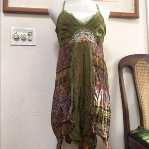 Aryeh Beaded Handkerchief Dress XL